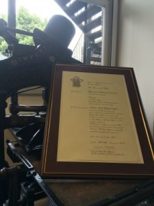 Royal Warrant to His Royal Highness The Prince Of Wales