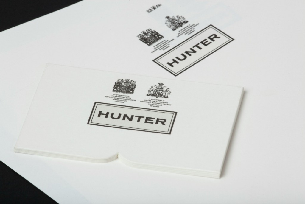 Hunter Die Cut Stationery