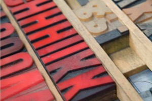 Wooden Letterpress Type
